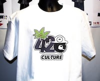 white and black 420 printed crew-neck t-shirt Lancaster, 93535