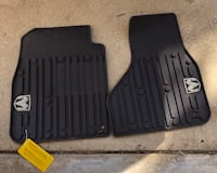 Black weathertech vehicle floor mat set Lubbock, 79414
