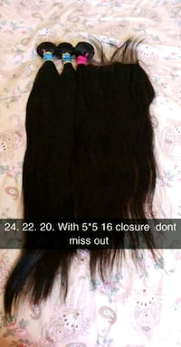 Hair bundles, frontal, closures, & wigs Mississauga, L4T 3T7