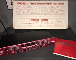 Line 6 POD Pro guitar pre amp with effects.