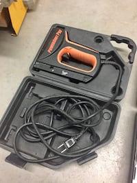 Electric stapler with carrying case