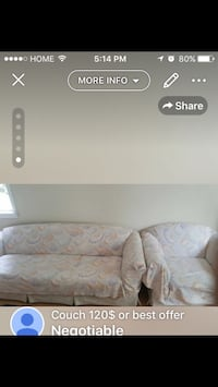 white and gray floral fabric sofa Edmonton, T5W 0M8