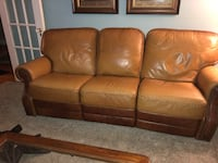 Leather couch with recliners Haddonfield