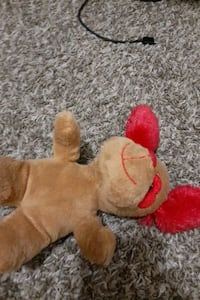 Valentines  dog plush toy