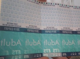 5 bus tickets
