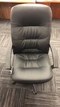 Black Leather Rolling Office Chair Columbia, 21046