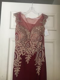 women's red and white floral sleeveless dress 2236 mi