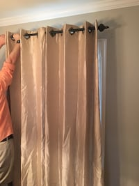 Gold Curtains - 4 panels, 2 rods, and 4 finials Kenner, 70065