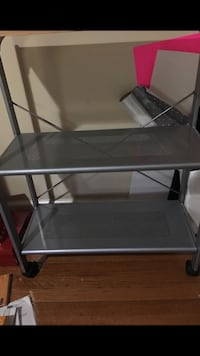 Silver metal table Arlington, 22201