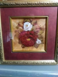 red and white flower painting with brown wooden fr Sicklerville, 08081
