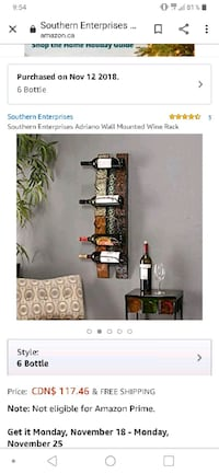Winerack 6 bottle Toronto, M8X 1A3