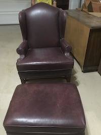 brown leather sofa chair with ottoman Phoenix, 85044