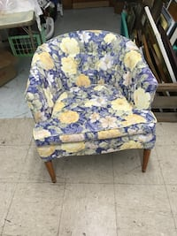 white and purple floral padded chair Havelock, 28532