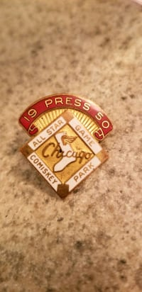 Baseball press pin