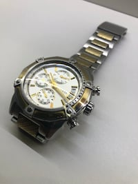 round silver-colored chronograph watch with link bracelet Montreal, H3E 3L3