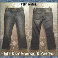 "NEW GIRLS OR WOMENS PETITE JEANS (28"" WAIST 25"" IN Ontario, 91762"