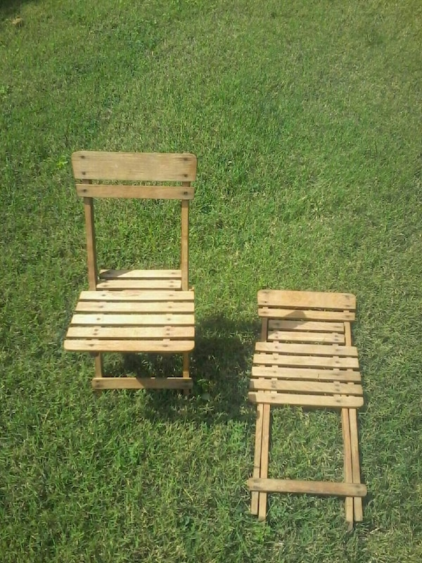 Outstanding Nevco 1950 60 Antique Child Folding Chairs Onthecornerstone Fun Painted Chair Ideas Images Onthecornerstoneorg