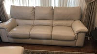 white leather couch BRANTFORD