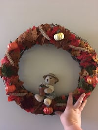 Fall wreath with a bear definitely a fall decor you want Reading, 19602