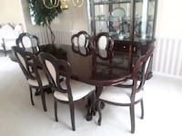 oval brown wooden dining table set Washington, 20018