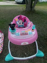 baby's pink and teal Minnie Mouse walker Charlotte, 28262