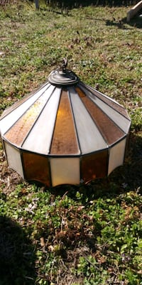 70's Retro stained glass hanging light fixture Petersburg, 23803