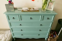 Teal / Turquoise Set of Drawers Dallas
