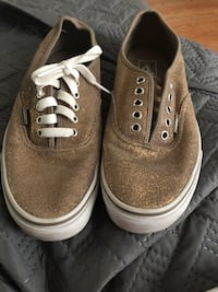 pair of gold glitter Vans Authentic low-top sneakers Virginia Beach, 23464