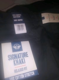 Signature khaki gray and blue two separate pairs