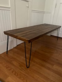 Modern Wooden Table with hairpin legs