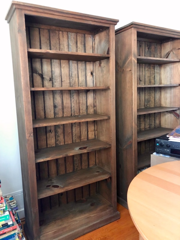 Gorgeous American-made solid pine bookcase