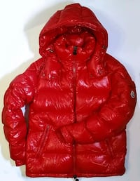 red and brown bubble jacket 550 km