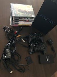 PlayStation 2 (PS2) with games