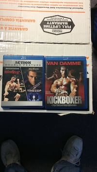 Van Damme Kickboxer Blu-Ray Disc case Bloodsport and Time Cop Buffalo, 17844