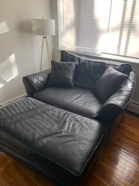 Black Couch with opening leg rest Waterbury, 06705