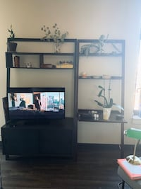 Sloane crate and barrel leaning bookcase