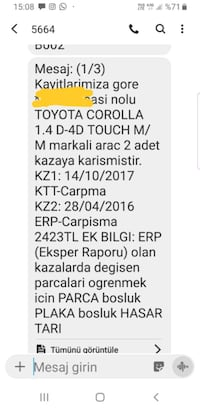 2015 Toyota Corolla 1.4 D-4D TOUCH M/M R. Şevket İnce