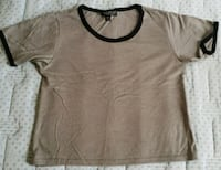 camicia scoop-neck marrone Roma, 00162