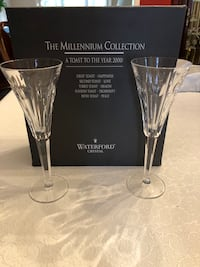 Waterford Millennium Series Crystal Love Toasting Flutes.