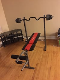 Bench press new condition used 3 ,4 times Toronto, M3H