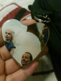 Two faces Game of throns keychain