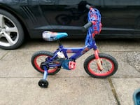toddler's blue and red bicycle with training wheels Huntington Station, 11746