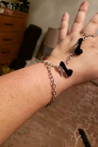 Silver chain and heels Bracelet