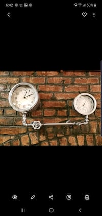 Industrial wall clock Brooklyn