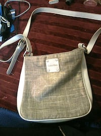 brown and white leather tote bag Winnipeg, R3C 1Z1