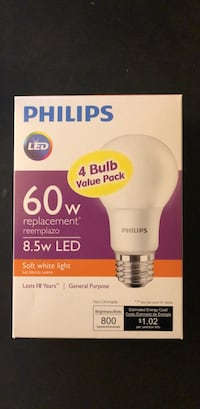Philips led 4-pack bulb Chantilly, 20151