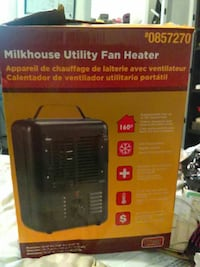 red and brown Milkhouse utility fan heater box
