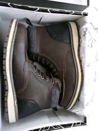 Size 10.5 Men's Lace-up Boots Dark Brown Schomberg, L0G 1T0