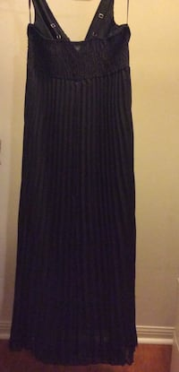 Black a-line v-neck A line sleeveless floor length ruching chiffon gown with Blouse and Scarf