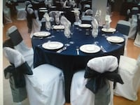 12 - White Cotton Chair Covers - Beautiful Toronto, M3N 2V7